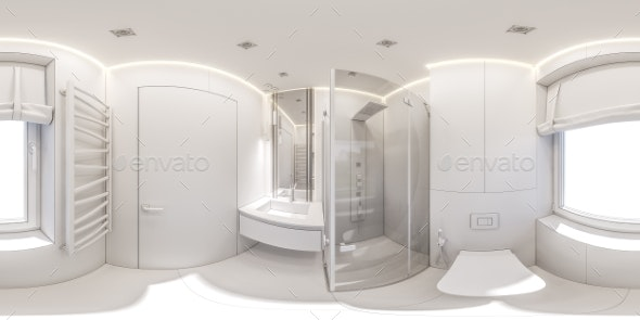 3d Illustration of a Bathroom in a Private Cottage - Miscellaneous 3D Renders