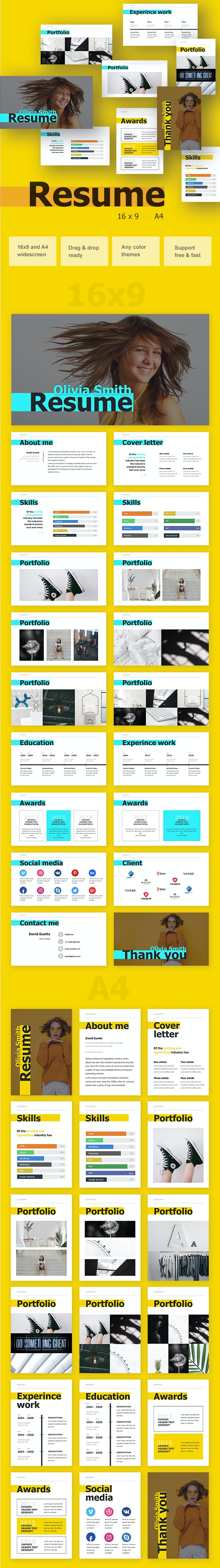 Rеsumе Powerpoint - Business PowerPoint Templates