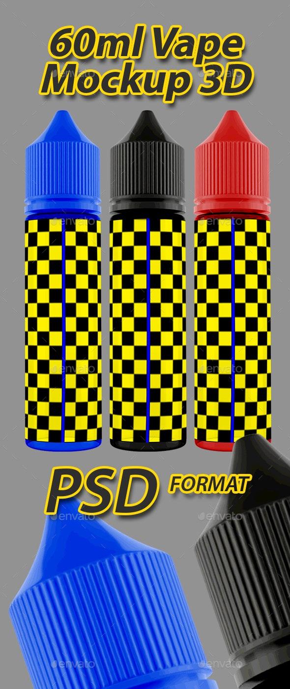 60ml Chubby Gorilla Vape Bottle 3D Mockup V3 - Miscellaneous Packaging
