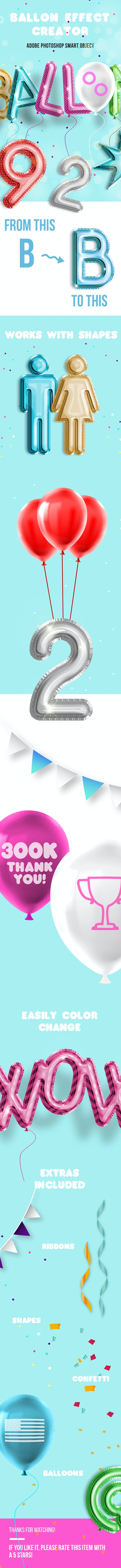 Balloon Effect Creator - Text Effects Actions