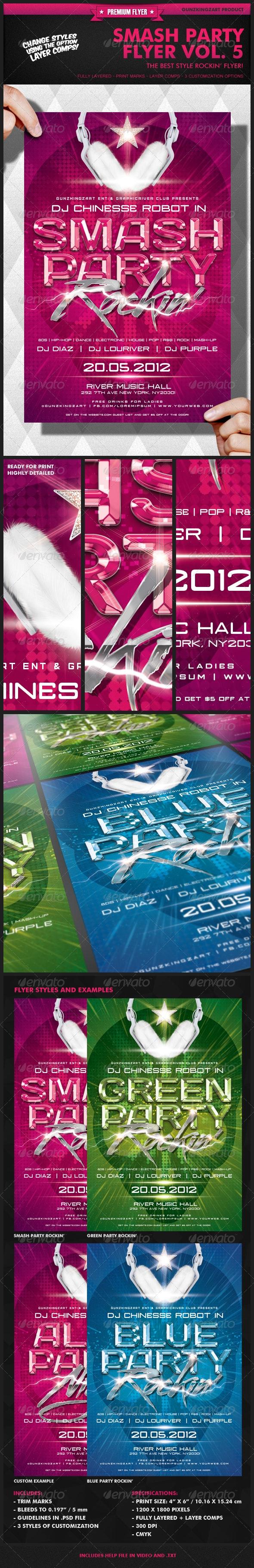 Smash Party Flyer Vol. 5 - Clubs & Parties Events