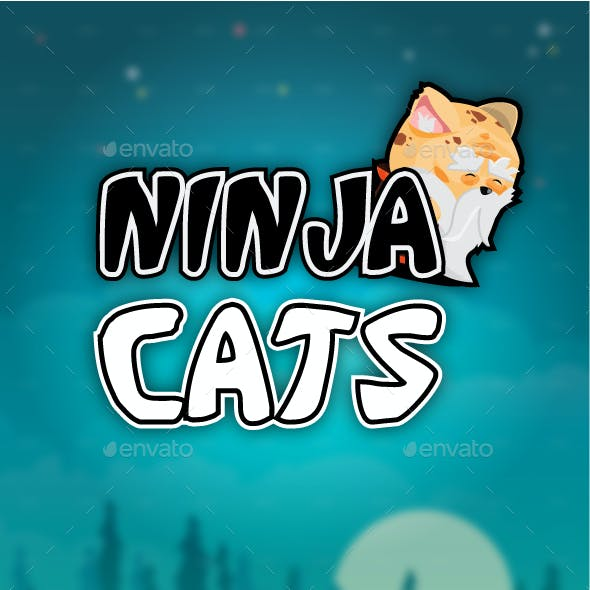 Ninja Cats Game Character Set