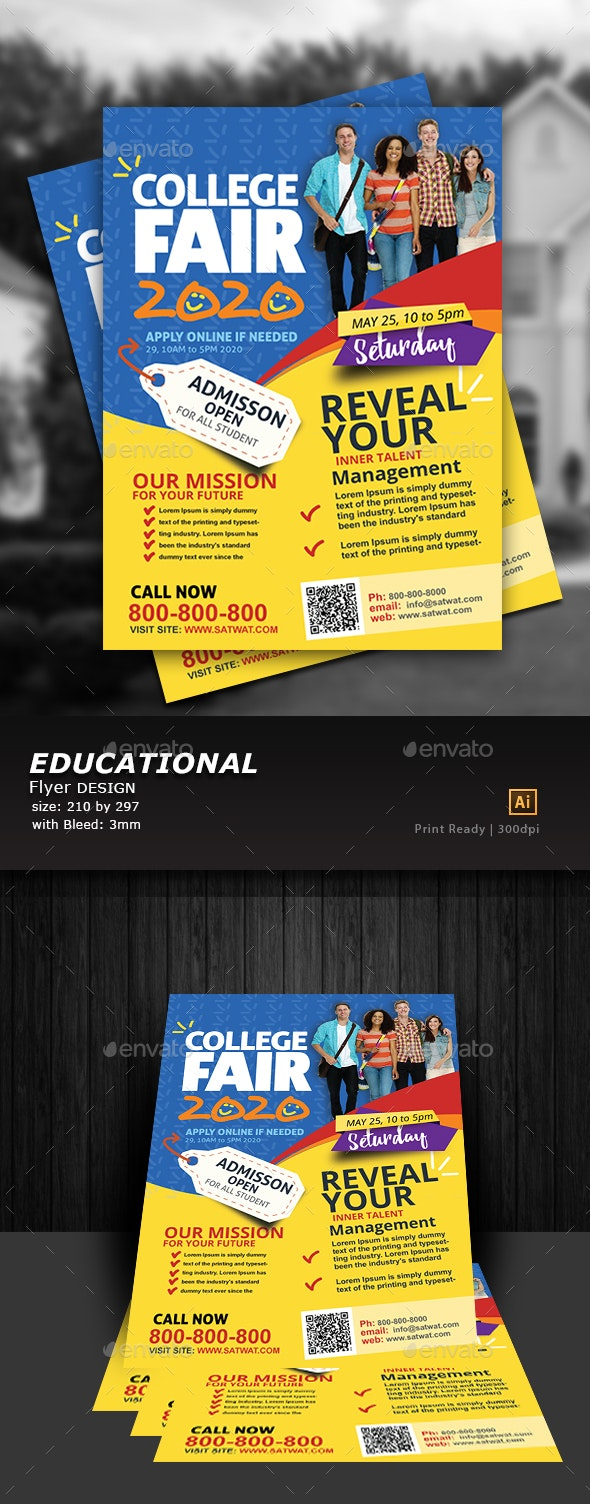 Education Flyer Design - Flyers Print Templates