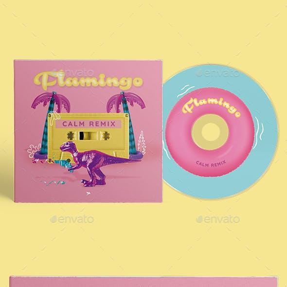 Flamingo - CD Cover Artwork Template