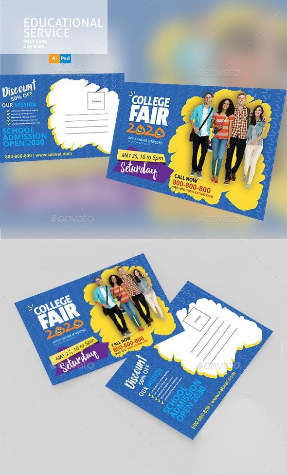 Education PostCard Design - Cards & Invites Print Templates