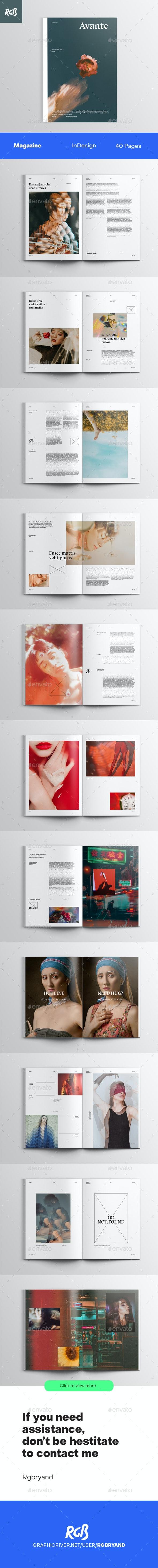 Avante Editorial Magazine - Magazines Print Templates