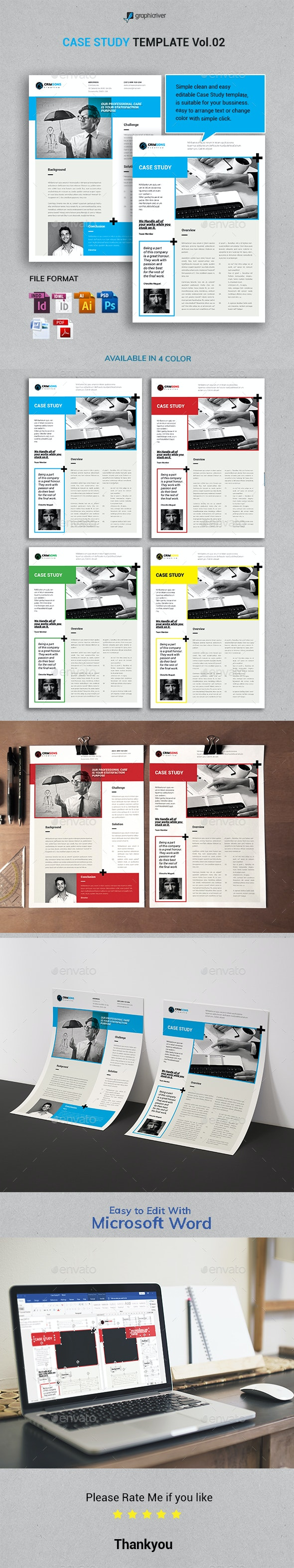 Case Study Template Vol.2 - Newsletters Print Templates