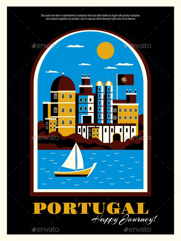 Portugal Tourism Poster Illustration - Travel Conceptual