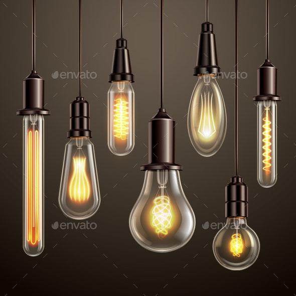 Light Bulbs Realistic Set - Miscellaneous Vectors