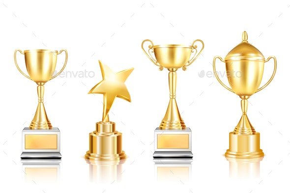 Golden Awards Realistic Collection - Miscellaneous Vectors