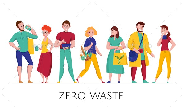 Zero Waste People Set - People Characters
