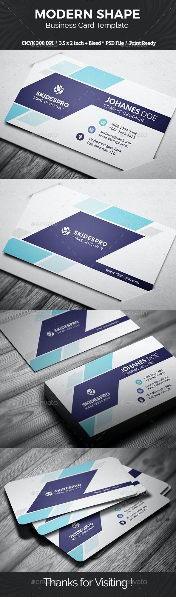 Modern Shape - Business Cards Print Templates