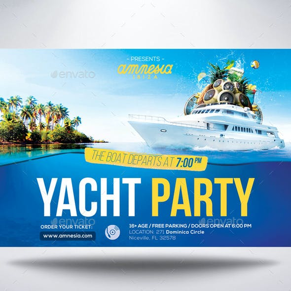 Yacht Party Flyer Vol.3