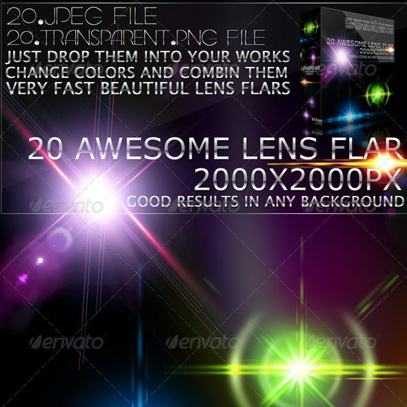 20 Lens Flar Lights Effects