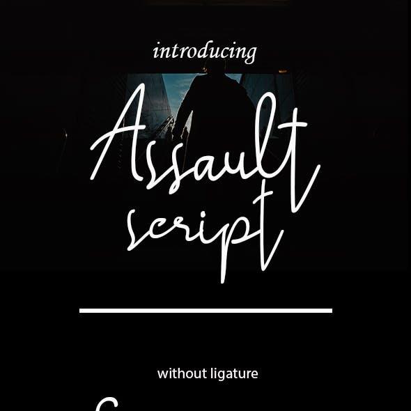 Assault script font