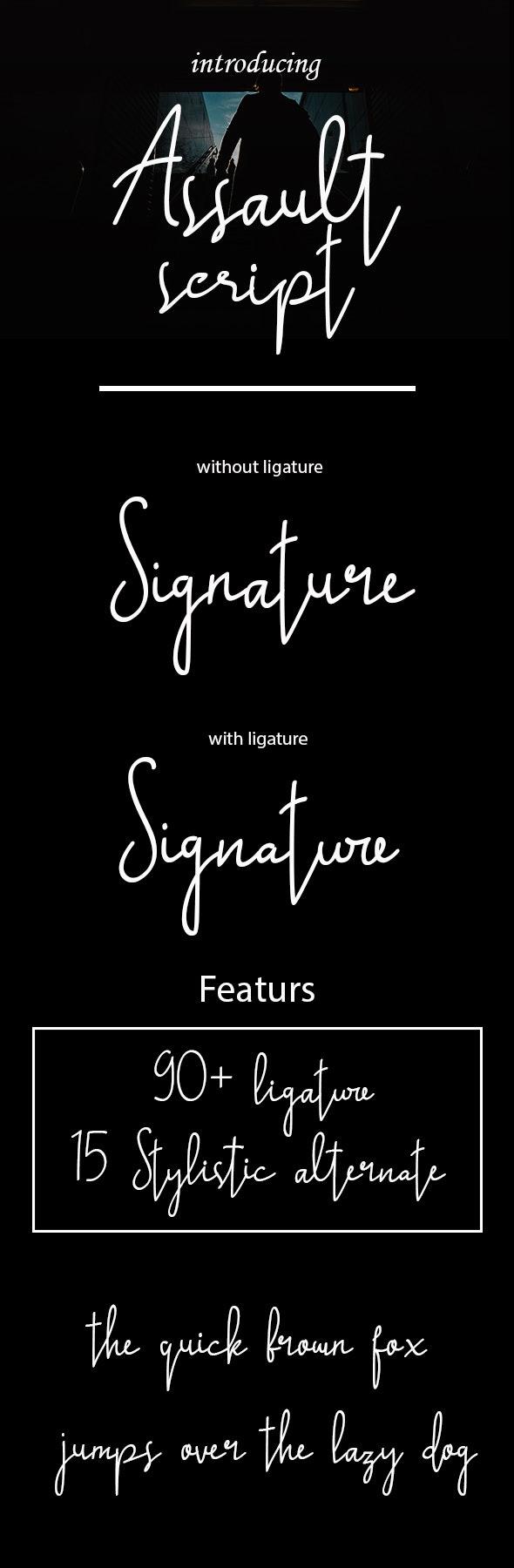 Assault script font - Hand-writing Script
