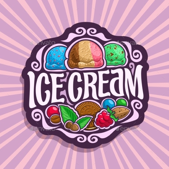 Vector Logo for Ice Cream - Food Objects
