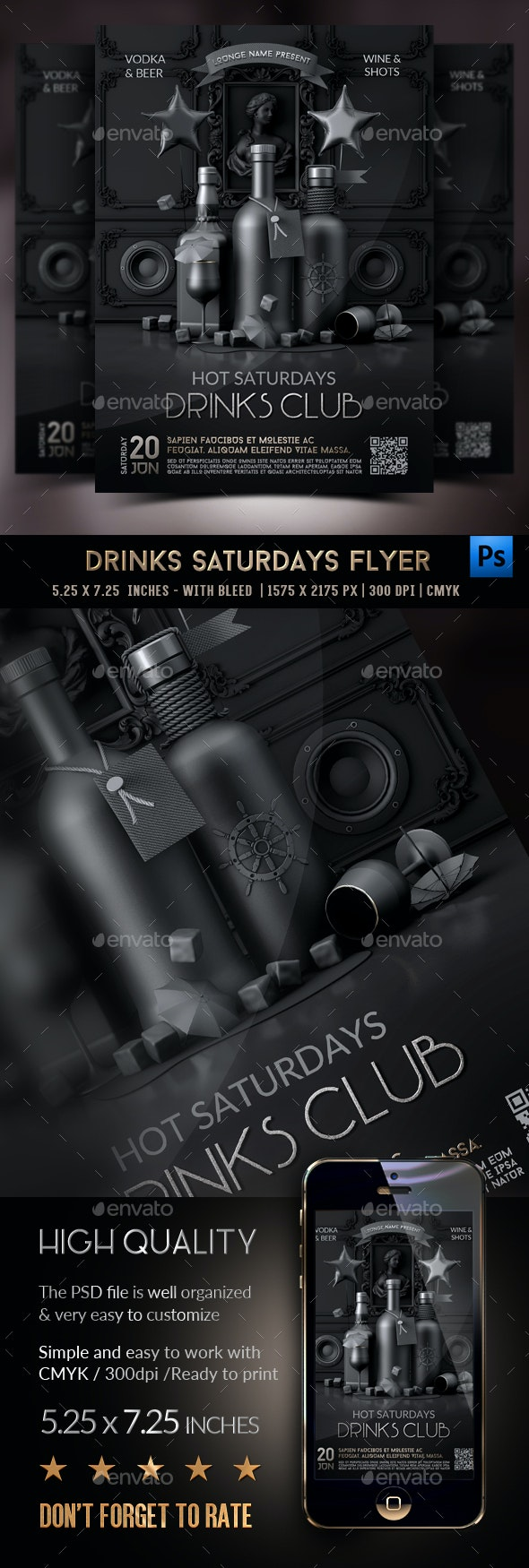 Drinks Party Flyer Template - Clubs & Parties Events