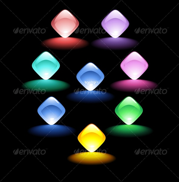 Shiny buttons  - Decorative Symbols Decorative