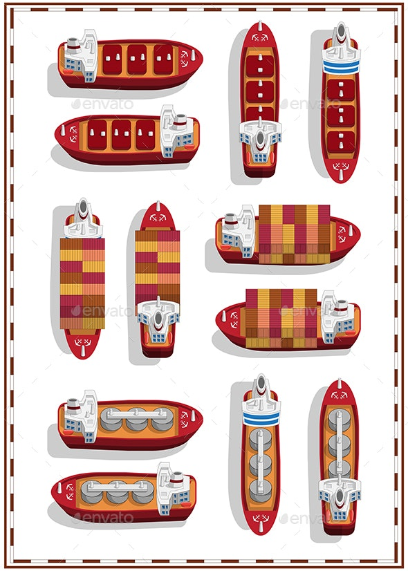 Set of Ships - Man-made Objects Objects