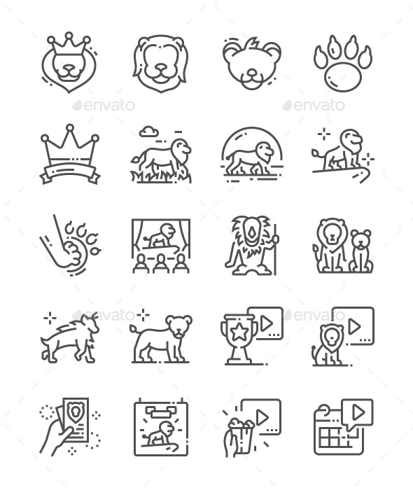 Lion Leader Line Icons - Miscellaneous Characters