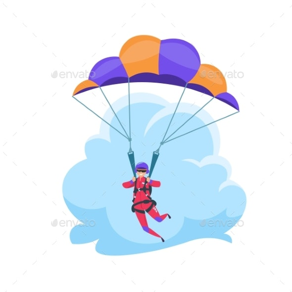 Parachuting Extreme Sport - Sports/Activity Conceptual