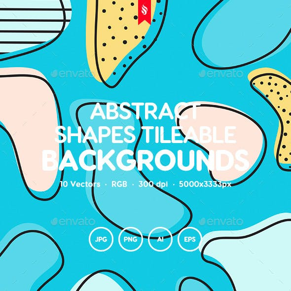 Abstract Modern Shapes Seamless Patterns
