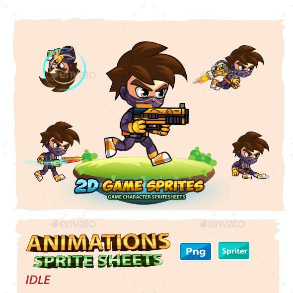 NinjaBoy 2D Game Sprites