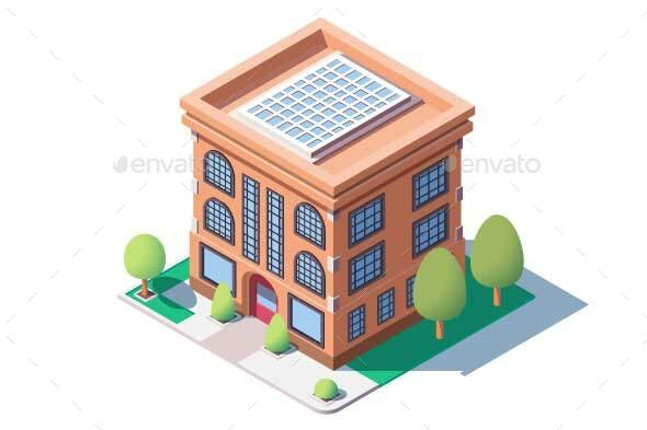 City Mid Rise Building - Buildings Objects