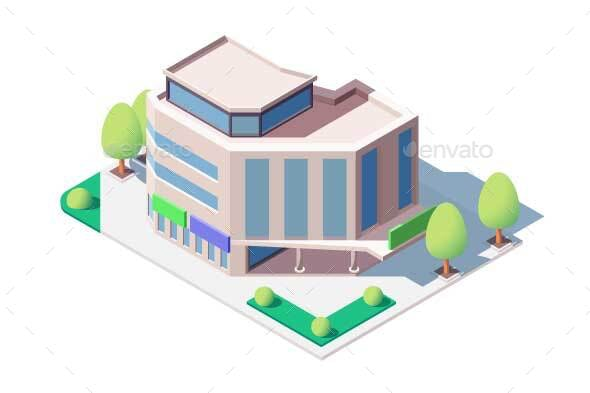 Modern Shopping Center - Buildings Objects