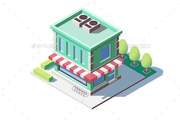 Modern Family Shop - Buildings Objects