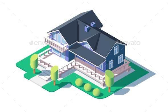Modern Private House - Buildings Objects
