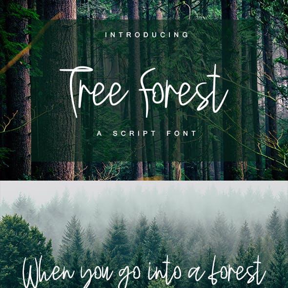 Tree Forest - Script Font