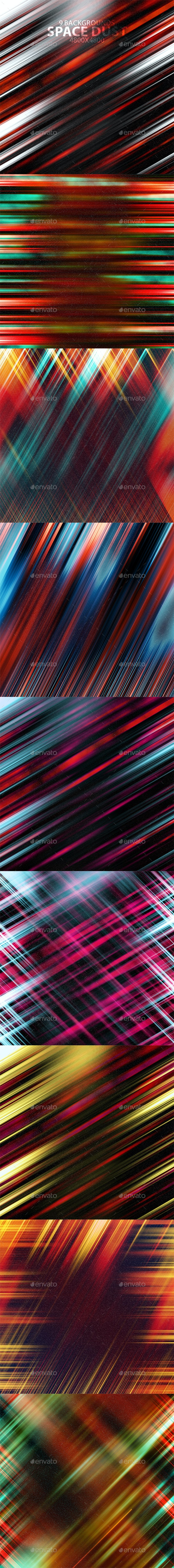 Space Dust Background Set - Abstract Backgrounds