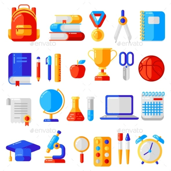 School and Education Icons - Miscellaneous Vectors
