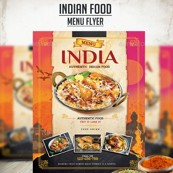 Indian Food Menu Flyer