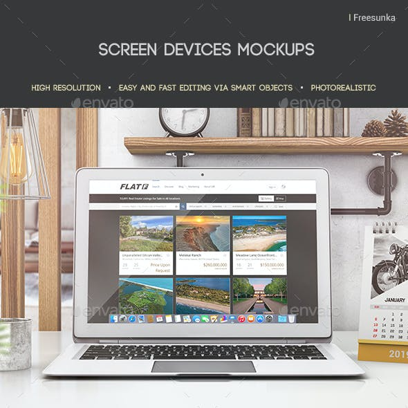 Screen Devices Mockups