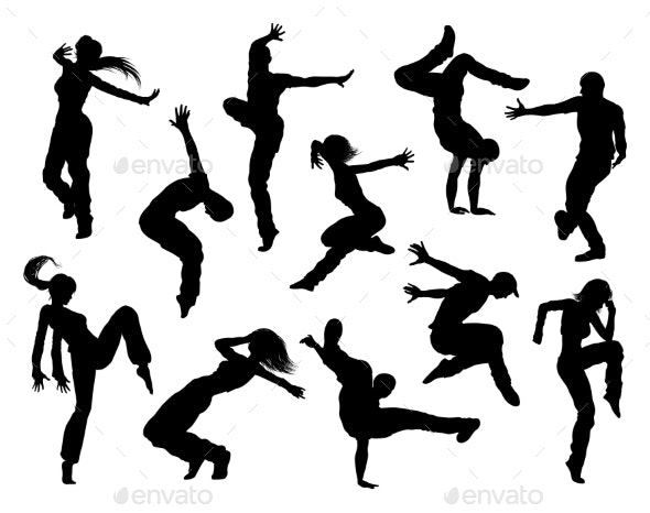 Street Dance Dancer Silhouettes - People Characters