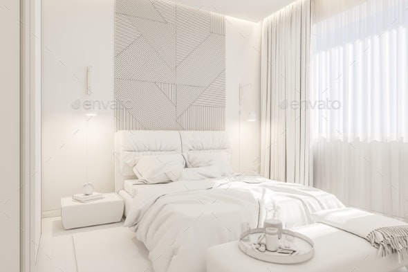 The Interior Design of the Master Bedroom in the - Architecture 3D Renders