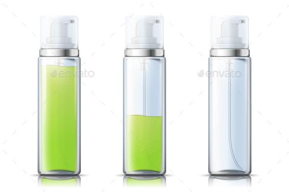 Vector Realistic Bottle - Health/Medicine Conceptual