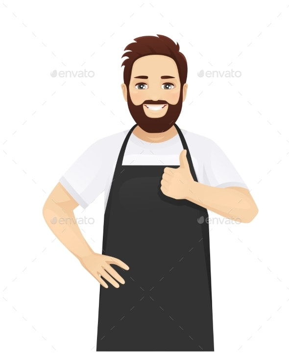 Man in Apron - People Characters