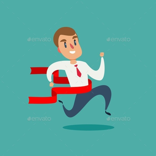 Concept of Successful Businessman - Sports/Activity Conceptual