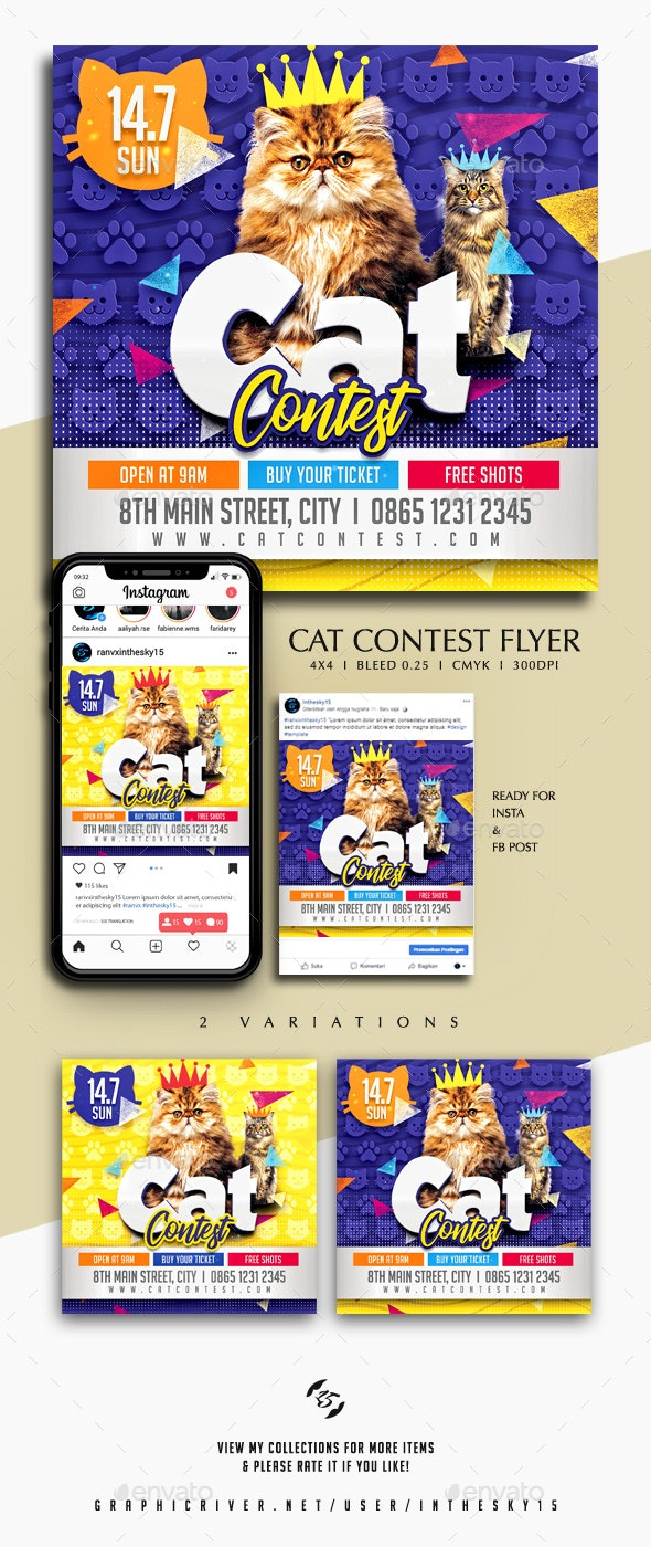 Cat Contest Flyer - Events Flyers