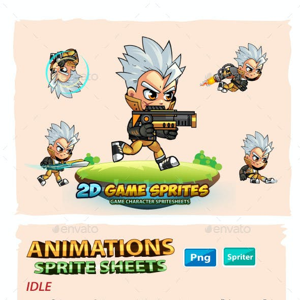 Allan 2D Game Character Sprites