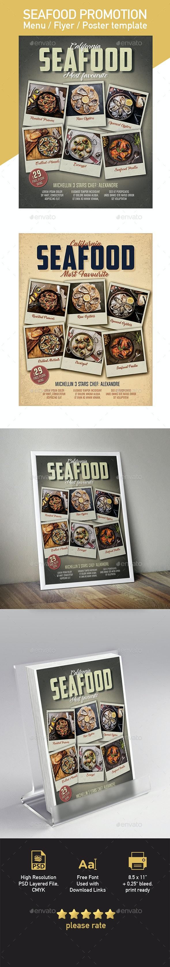 Vintage & Retro Restaurant Menu Template - US Letter Flyer Template - Restaurant Flyers