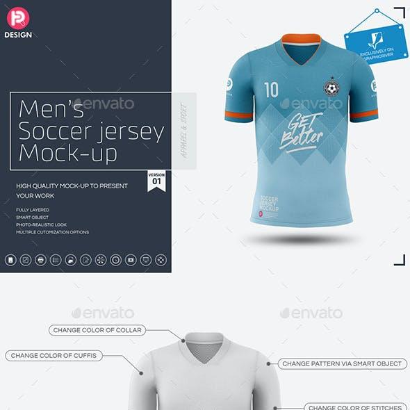 Men's Soccer Jersey Mockup V1