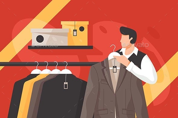 Mens Clothing Store - Man-made Objects Objects