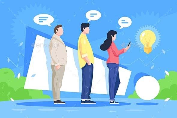 Queue of Ideas - Concepts Business