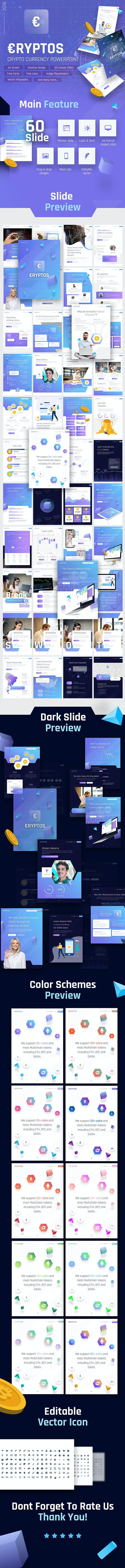 Cryptos - Portrait Crypto Currency PowerPoint Template - PowerPoint Templates Presentation Templates