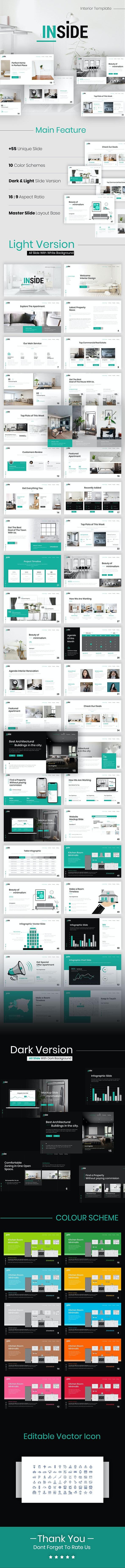 Inside Interior Presentation PowerPoint Template - PowerPoint Templates Presentation Templates